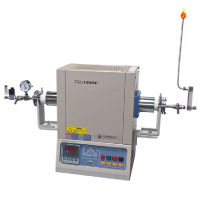 1500°C Compact Hydrogen Gas Tube Furnace with Alumina Tube and Hydrogen Detector & Shutdown Valve | MTI Turkey