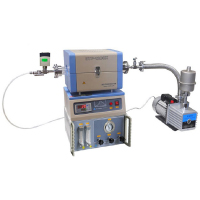 Mini CVD Tube Furnace with 2 Channel Gas Mixer, Vacuum Pump, and Vacuum Gauge | MTI Turkey