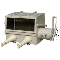 Large Two Ports Stainless Steel Vacuum Glove Box with Vacuum Flange and Airlock Chamber | MTI Turkey