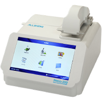 NANO-300 nano-drop spectrophotometer with a built-in touch screen controller for measuring 0.5 µL sample in 200-800 nm wavelength range | ALLSHENG Turkey