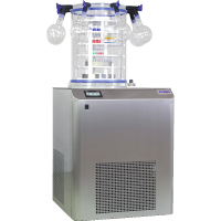 VaCo 10 is laboratory scale freeze drying system (lyophilizer) with 50 liters volume, 10 kg daily ice capacity, and -50°C or -80°C condenser temperature | ZIRBUS Turkey