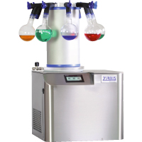 VaCo 2 is laboratory scale freeze dryer (lyophilizer) with 5.7 liters volume, 2 kg daily ice capacity, and -50°C or -80°C condenser temperature | ZIRBUS Turkey